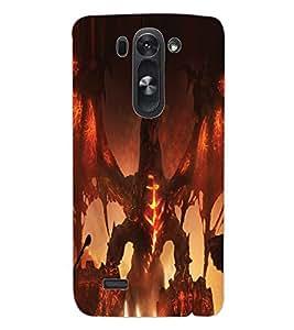 ColourCraft Ferocious Dragon Design Back Case Cover for LG G3 BEAT