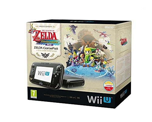 Nintendo Wii U - Konsole, Premium Pack, 32GB, schwarz - The Legend of Zelda - The Wind Waker HD (Zelda Nintendo Wii)