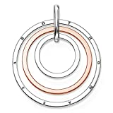 THOMAS SABO Damen-Anhänger Glam & Soul Kreise 925 Sterling Silber 750 roségold vergoldet PE656-415-12