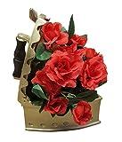 Fachhandel Plus Deko Rosengesteck im Bügeleisen Tischdeko Kunstblumen Blumengesteck