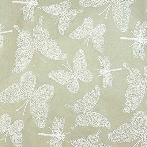 Fair Trade Handmade Gift Wrapping Paper–Lokta Paper Butterflies White