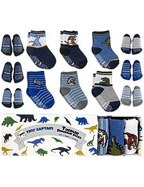 Tiny Captain Anti-Rutsch-Socken für Mädchen, für Kleinkinder von 1–3Jahren, tolles Geschenk, in Roa / Blau /...