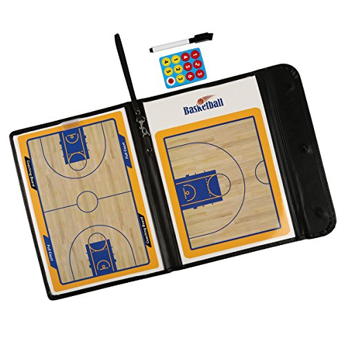 Fiturbo Taktiktafel Basketball Board Coach-Mappe Taktikmappe für Basketball mit Magnet und Stift mit Radiergummi (Coach-board Basketball)