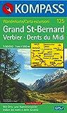 Grand St. Bernard/Großer St. Bernhard - Verbier - Dents du Midi: Wanderkarte mit Orts- und Namensregister. GPS-geeignet. 1:50000 (KOMPASS-Wanderkarten, Band 125)