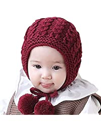 Ziory Baby Knitted Wool Cap (Maroon)