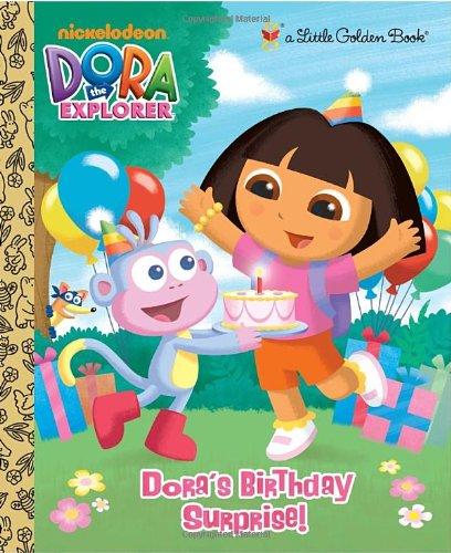 Dora's Birthday Surprise! (Little Golden Books)
