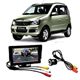 #7: Fabtec Premium Quality 4.3 inch Full Hd Dashboard Screen with LED Night Vision Water Proof Car Rear View Reverse Parking Camera Free for Mahindra Quanto