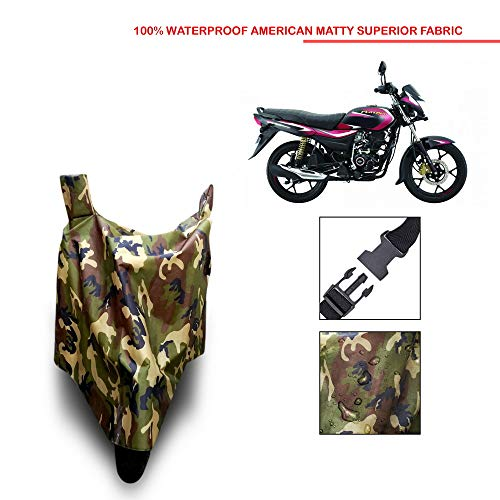 VVM Bajaj Platina 110 H Gear Waterproof-Anti Rain-Sun UV Protection-Dustproof Bike Cover (Multi Jungle)