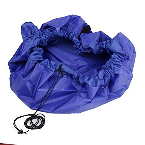 NUOLUX Tapis de jeu organisateur de grands enfants jouet rangement sac (bleu)