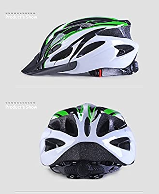 Adult Bike Helmet, Adjustable Lightweight Cycling Helmet with Honeycomb Type 18 Holes Mountain Bicycle Racing Helmet for Men and Women by Vinciph