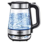 Glass Electric Kettle Temperature Control Tea Kettle with Keep Warm Function, 3000W Fast