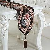 LXZ Tischläufer Luxus Flachs Jacquard Künstlerische Dekor Dining Atmosphäre Minimalistischen Modernen / Tischdecke Couchtisch Tuch Und Zwei Quasten (33 X 210 Cm) , C