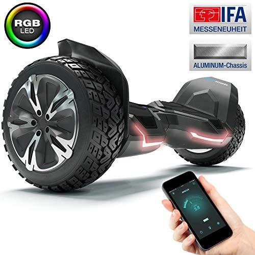 "Bluewheel Unisex- Erwachsene Hx510 8.5\"" Self-Balance Scooter HX500-Farbanpassung mit App - Bluetooth Lautsprecher - Starker Dual Motor - LED - Elektro Board E-Skateboard, Schwarz, 8,5 Zoll"