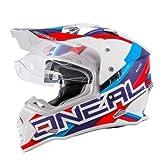 O Neal Sierra 2 Adventure Motocross Helm blau Doppelt Sport Motorrad - Large