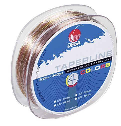 Dega TAPER LINE 4-color SCHLAGSCHNUR 4-farbig (Ø 0.30 - 0.60 mm)