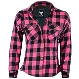 BULLDT Damen Motorradhemd Holzfäller-Look Hemd mit Protektoren, 50/5XL