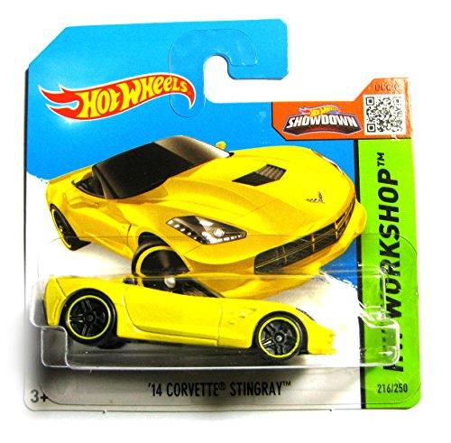 Hot Wheels Chevrolet Corvette Stingray convertible 2014 gelb 216/250 1:64 1 64 Diecast Corvette
