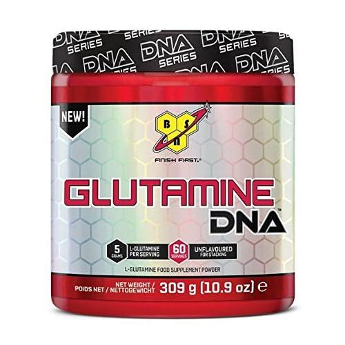 BSN DNA Glutamine, L-Glutamine Amino Acid Powder, Unflavoured, 309 g, 60 Servings