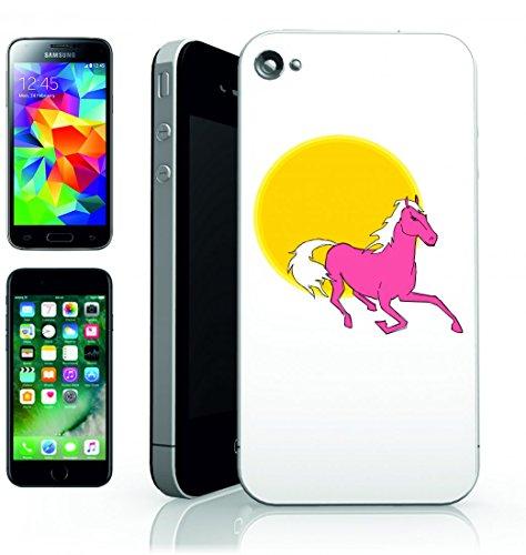Smartphone Case Cavallo al Galoppo di animale della Rosa della Corsa sole tramonto di animali della fattoria di stallone domestico del movimento del Paesaggio Per Apple iPhone 4/4S, 5/5S, 5C, 6/6S,