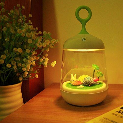 Shiny shop 1W USB Touch Kaninchen Käfig Licht Moderne Micro Landschaft Pflanzenlicht Farbe DIY Nachtlicht, DC 5 V, Größe: 23.2x12.0x12.0cm Geburtstagsgeschenk (Artikelnummer : Led5698a) - 12 Moderne Landschaft Beleuchtung