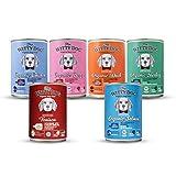 THE WITTY DOG, Cibo per Cani 100% Certificato Bio, Menu Completo: Mix 6 Menus, Barattolo 6x400g (Manzo/Anatra/Pollo/Tacchino/Salmone Bio e Selvaggina, Singola Proteina Animale, Human Grade)