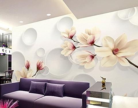 Fond d'Lwcx Fleur 3D Mode Orchid Garden Wall Mural Papier peint photo Salle de bains papier peint peinture murale 3D Photos 150X105CM