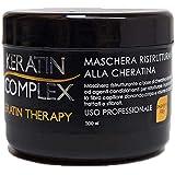 Maschera ristrutturante Keratin Therapy alla cheratina per uso professionale 100% made in italy senza parabeni 500 ml rinforz