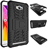 Yes2Good Hybrid Military Grade Armor Kick Stand Back Cover Case For Asus Zenfone Max ZC550KL (Black)