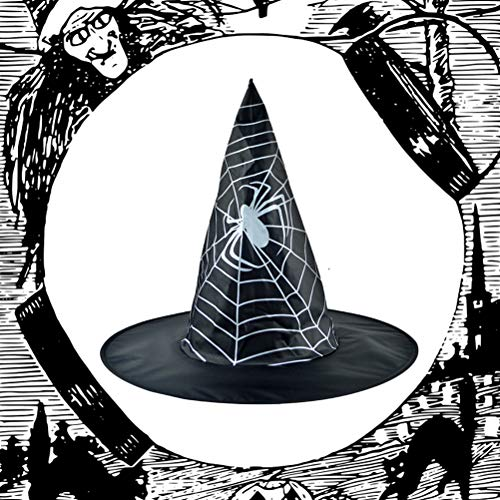1PC Witch Hat Spider Web Black Creative Decorative Cool Props Kostüm Zubehör für Halloween Party Girls Women (Baby Tragen Spider Kostüm)
