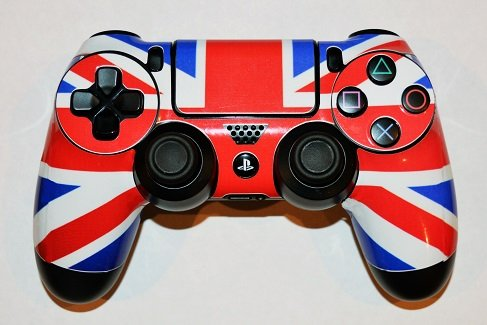 Price comparison product image 2 x Union Jack Skin Wrap Cover Stickers for PS4 Playstion 4 Controller by Ellis Graphix