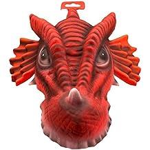 Folat EVA fiesta máscara con elástico XXL–Color Rojo Dragon