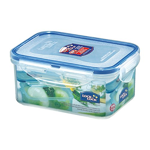 Lock&Lock Classics Rectangular Food Container with Leak Proof Locking Lid, 600ml  available at amazon for Rs.170