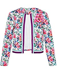 Hallhuber Crop Jacket with Floral Print