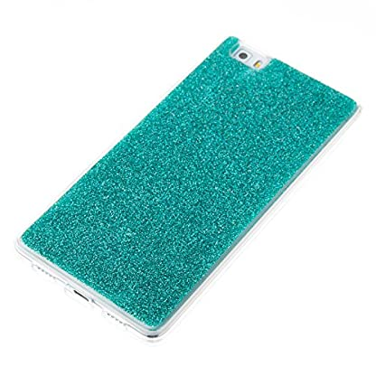COZY HUT Luxury Bling Glitter Sparkle Case for Huawei P8 Lite Shockproof Case Shining Shock Absorption TPU Bumper Protective Phone Case Cover for Huawei P8 Lite - green 3