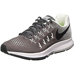 sale retailer 1ad93 14610 Nike Wmns Air Zoom Pegasus 33, Zapatillas de Running para Niñas, Gris (Dark