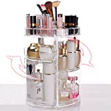 Amazing 3D Acrylic Cosmetic Organizer 360°Rotating Makeup Storage Multi Function With Large Capacity