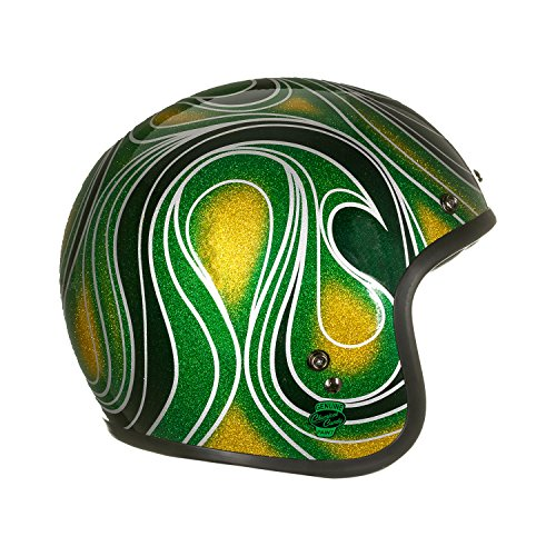 Bell Powersports Custom 500 Motorradhelm, Mehrfarbig (Chem Candy Mean Grün), M