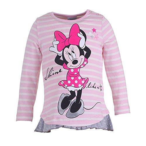 DISNEY Ragazze Topolina/Minnie Mouse Maglione, rosa, taglia 92, 2 anni