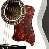 TS-Ideen 6087 Plaque de protection pour Guitare acoustique/Guitare Style Western Rouge/Marron
