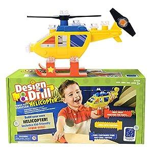 Learning Resources- Set de construcción de vehículos con Herramienta eléctrica Design & Drill helicóptero, Color (EI-4130)