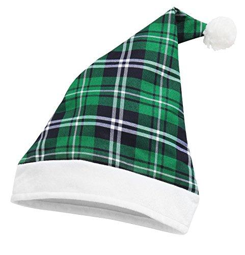 Tartan Weihnachtsmütze - Green Tartan /White (Snowboarder Kostüm)