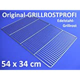 Edelstahl-Grillrost 54 x 34 cm