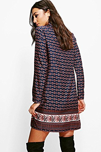 Multi Damen Tall Abbi Woven Printed Shirt Dress Multi