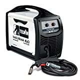 Telwin 816085 Maxima 160 Synergic Saldatrice Inverter a Filo Mig-Mag/Flux/Brazing, 230 V, Bianco, Maxima 160