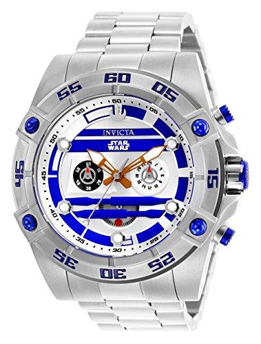 Invicta 26518 Star Wars - R2-D2 Reloj para Hombre acero inoxidable Cuarzo Esfera blanco