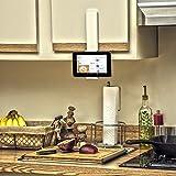 Handee-Smartphone und -Tablet-Küchenhalterung von Dockem; universelle Wandstation für Smartphones (iPhone 4/5/6 Plus) und Mini-Tablets (iPad Mini und kleiner) für die Küche, Schränke, Kühlschrank, Schlafsaal, Badezimmer usw (weißgrau)