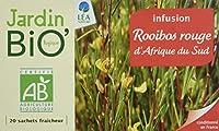 Jardin Bio Rooibos Rouge d'Afrique du Sud 34 g - Lot de 4