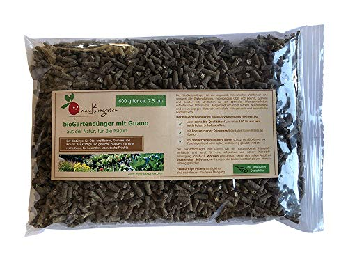 BIO-Dünger mit Guano, einsetzbar als Gemüse- und Kräuterdünger, Obst- und Beerendünger, sorgt der Pflanzen-Dünger für ein gesundes, langanhaltendes Wachstum (N-P-K 8:4:6) - Größen: 0,6, 1,75 und 4 kg.