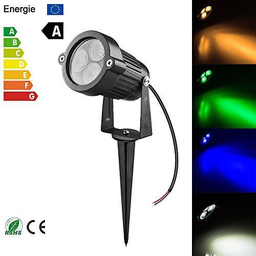 9W LED-Landschaftsbeleuchtung, OurLeeme LED-Außenstrahler Wasserdichter Rasen-Garten Niederspannungs-Flutlicht-Scheinwerferlampe DC 12V für Rasen, Garten, Yard, Einfahrt (ohne Stecker)(Grün) -