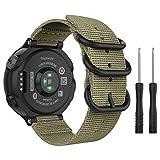 MoKo für Garmin Forerunner 235 Armband, NATO Nylon Uhrenarmband Ersatzarmband Strap für Garmin Forerunner 235/220 / 230/620 / 630 / 735XT, Armbandlänge 5.51